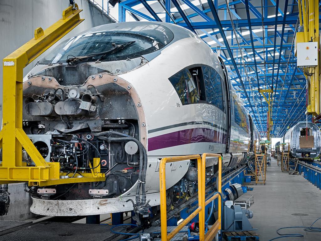 Reparación de accidentes y modificación de trenes